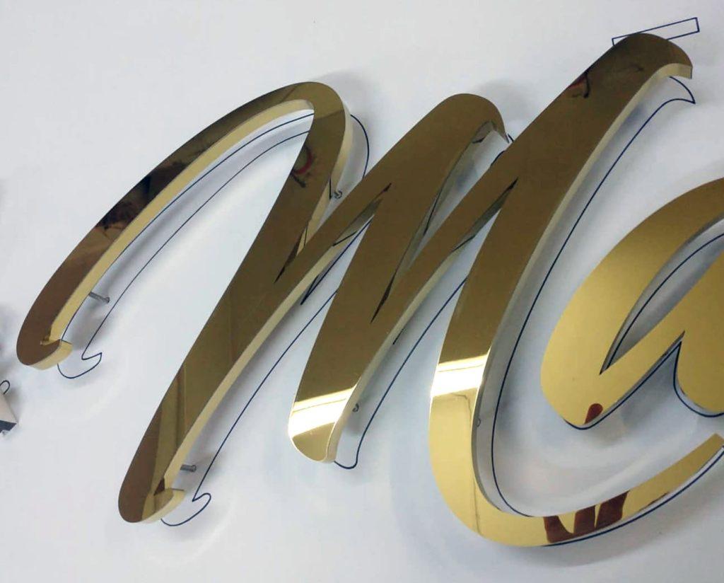 Буквы из нержавеющей стали (зеркальные)