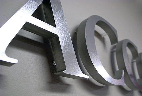 Буквы из нержавеющей стали (матовые)